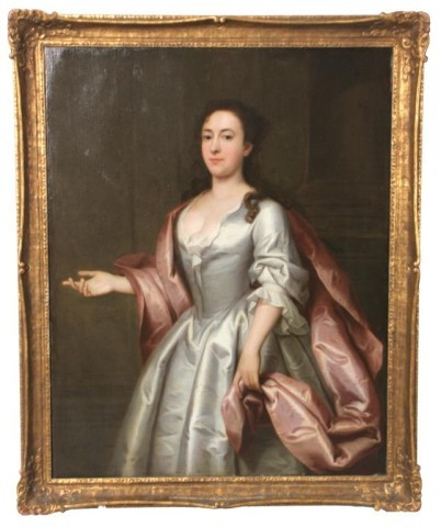 Portrait of a lady painted in 1742 by the Norfolk artist John Theodore Heins of Norwich