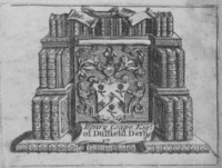 Bookplate Henry Coape 1703?-1778 of Duffield Derby