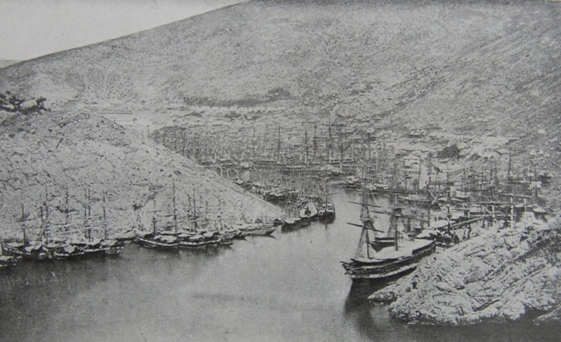 Entrance to Balalava Harbour from Letters From the Black Sea During The Crimean War 1854-1855 By Admiral Sir Leopold George Heath KCB.  Published by Richard Bentley And Son, 1897.