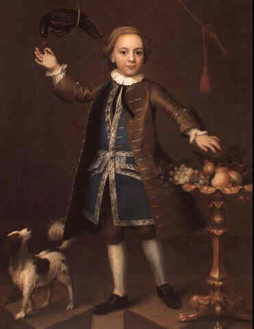 Portrait of a Boy painted by John Theodore Heins (1697-1756) of Norwich, Norfolk painter.