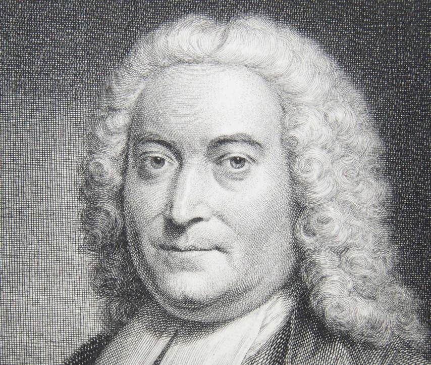 Detail from the Portrait of John Taylor1694-1761 Unitarian minister at Norwich Norfolk From a painting by the artist John Theodore Heins Painted in 1746 Engraved by Jacob Houbraken 1754.