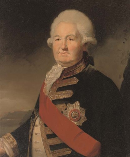 Portrait of Admiral Sir Edward Hughes who died 1794