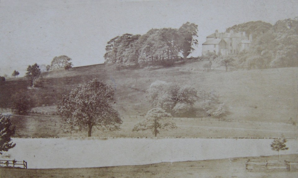 Photograph of the house at Linley Wood, Talke, Staffordshire taken from the entrance drive in the late 1800s Home of the Caldwell, Marsh-Caldwell and Heath-Caldwell family