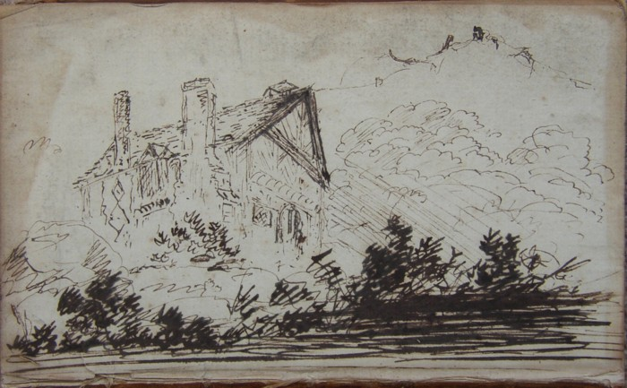 Drawing of Montpelier, Linley Wood, Talke, Staffordshire, 1789