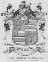 Bookplate of James Stamford Caldwell