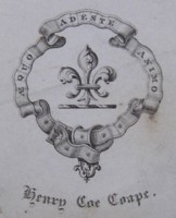 Bookplate of Henry Coe Coape