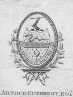 Bookplate of Arthur Cuthbert