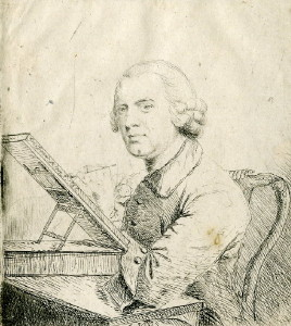 Portrait of the Minature Painter Gervase Spencer 1715-1764 Drawn after a drawing by Reynolds. Click for larger image.