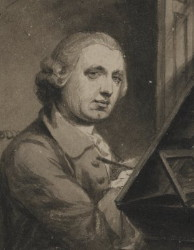 Self Portrait of the Miniature Painter Gervase Spencer 1715-1764 Artist and miniature portrait painter who was based in London.