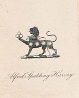 Bookplate of Alfred Spalding Harvey
