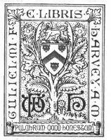 Bookplate of Gulielmi F   Harvey AM