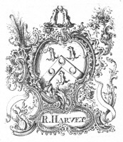 Bookplate of R Harvey