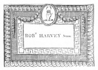 Bookplate of Robert Harvey Junior