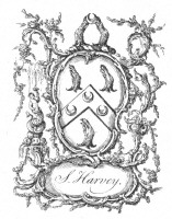 Bookplate of S Harvey