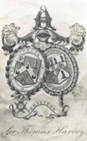 Bookplate of Sir Thomas Harvey