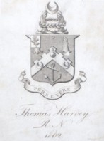 Bookplate of Vice Admiral Thomas Harvey Royal Navy 1775-1841