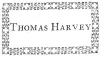 Bookplate of Thomas Harvey