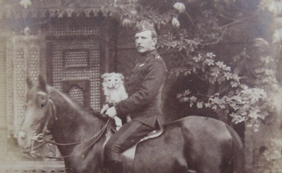 Frederick Crofton Heath-Caldwell on a horse in Cairo in 1883