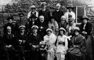 The Wedding of Capt Cuthbert Helsham Heath-Caldwell and Violet Palmer. May 5th 1919, Armagh Cathedral