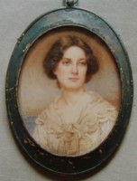 Miniature portrait of a lady painted by Lionel Heath