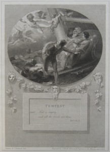 Tempest Painted by Thomas Stothard RA, Engraved by James Heath Engraver to his Majesty and his RH the Prince of Wales.