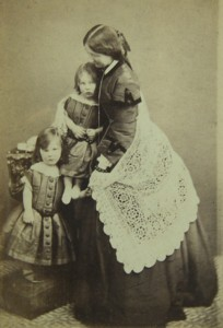 Photographic portrait of Mary Emma Lady Heath with her two eldest sons Arthur and Frederick.