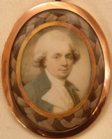 Miniature Portrait of John Henderson 1747-1785 the actor who married Jane Figgins