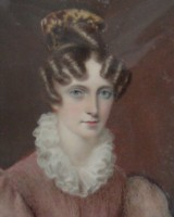 Miniature Portrait of Georgiana Hesketh (nee Raynsford) 1819-1910 of Rio de Janeiro in Brazil and later of Southampton in England