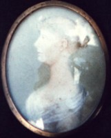 Miniature portrait of Anne Marsh-Caldwelll. Click for larger image.