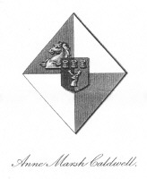 Bookplate of Anne Marsh Caldwell