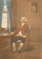 Portrait drawing of George Marsh Commissioner of the Navy by Johann Gerhard Huck 1759-1811 artist and engraver