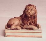 Wood and Caldwell Lion Figure Staffordshire pottery