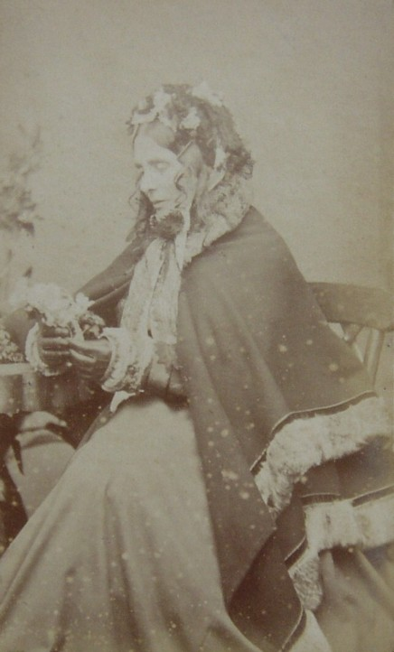 Portrait Photograph of Julia Anna Harrison nee Heath 1807-1879 of  Moorhurst Holmwood Surrey  and later Garlands Ewhurst Surrey.