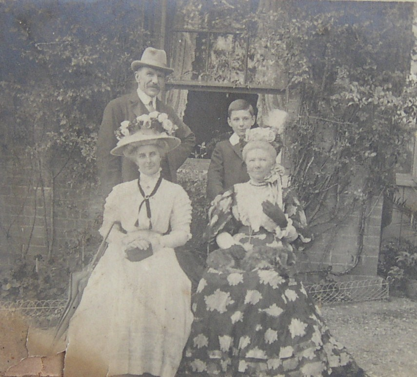 Frederick Crofton Heath-Caldwell  with his son Martin, wife Constance and aunt Henrietta Helsham