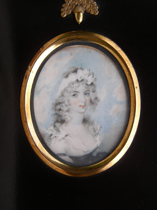 Miniature portrait of Eliza Heath nee Thomas painted 1780 by Burch