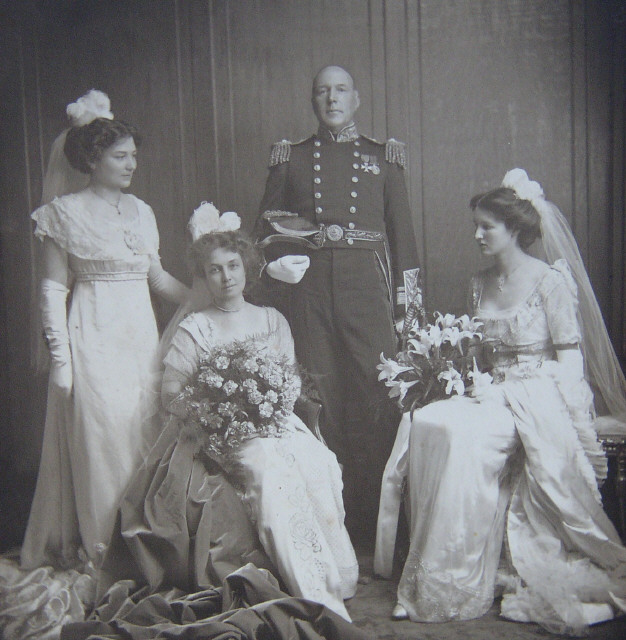 Family of Admiral Sir Herbert Leopold Heath. Probably taken in 1911 around the time of the coronation of King George V.