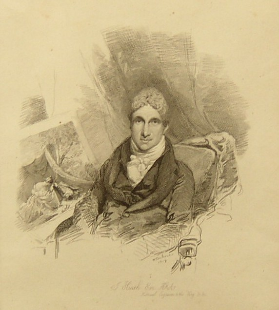 Portrait of James Heath 1757 -1834 ARA Associate of the Royal Academy Historical Engraver to the King Drawn by W Behnes 1819 Etched by Mrs Dawson Turner.