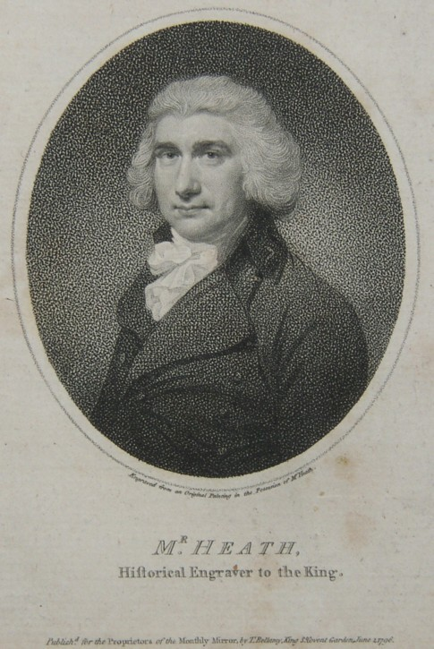 Portrait of James Heath ARA Associate of the Royal Academy Historical Engraver to the King Published as an engraving in the Monthly Mirror  in 1796