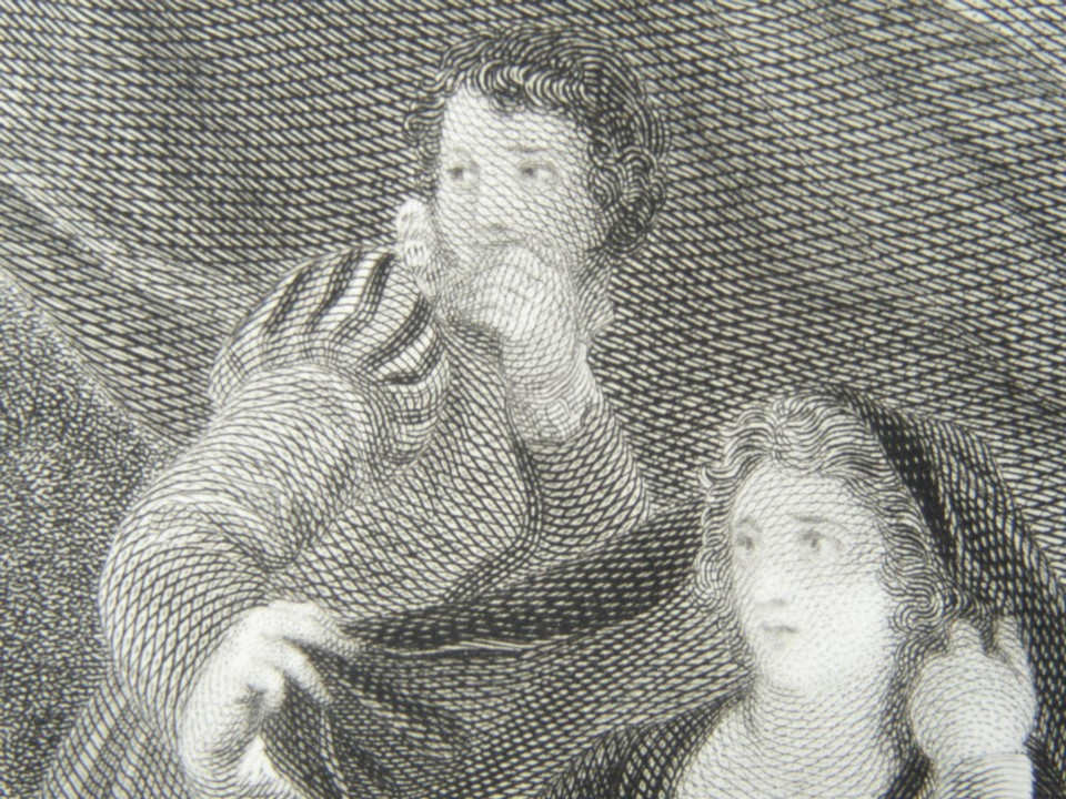 Detail from the engraving of Twelfth Night or What You Will by William Shakespeare. Painted by the artist painter Thomas Stothard RA, Engraved by James Heath Engraver.