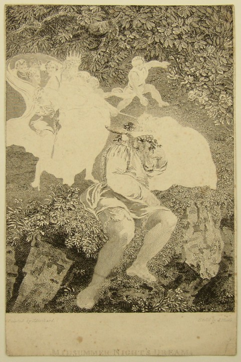 Early proof copy of Midsummer Night's Dream Painted by Thomas Stothard RA, Engraved by James Heath.