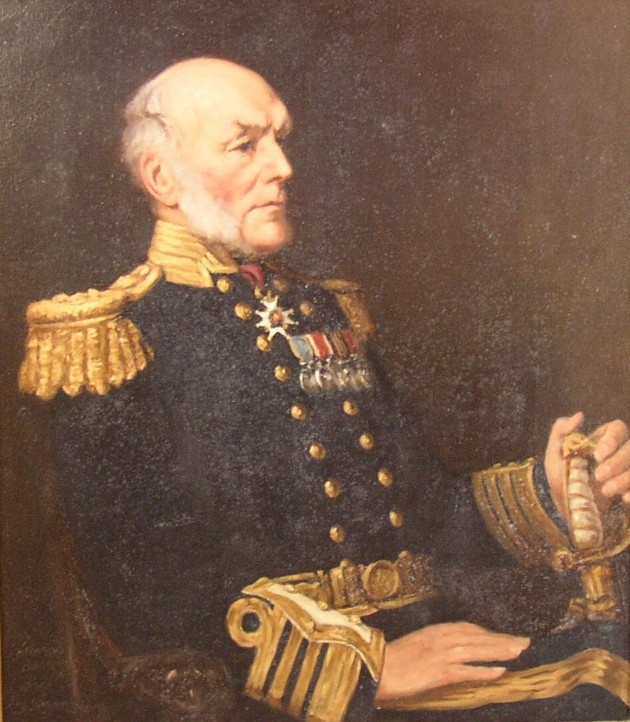 Portrait of Admiral Sir Leopold George Heath of Moorhurst and later Anstie Grange Holmwood, Surrey, England 1817-1907