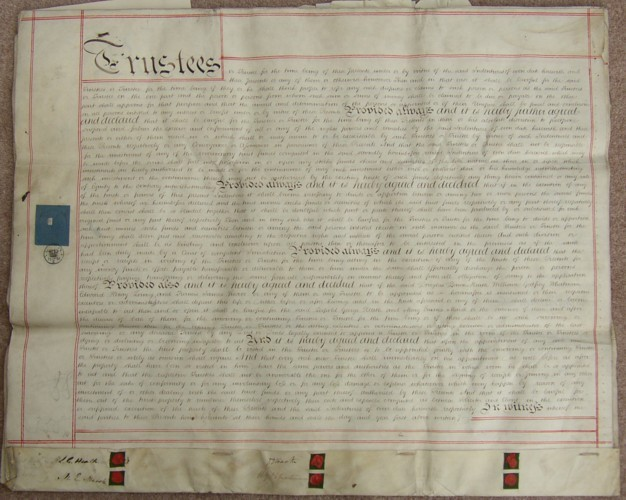 Marriage Agreement of Adm Sir Leopold George Heath and Mary Emma Marsh 1853