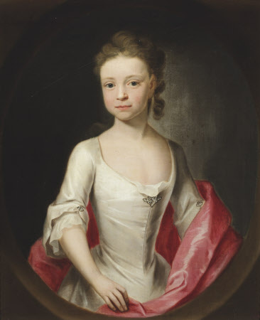 Portrait of Miss Isabella Astley (1724-1741) painted in 1732 by the artist John Theodore Heins (1697-1756) of Norwich, Norfolk, painter.