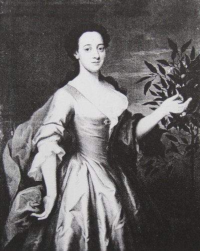 Portrait of Anna Maria Kett nee Phillips painted in 1741 by the artist John Theodore Heins of Norwich Norfolk