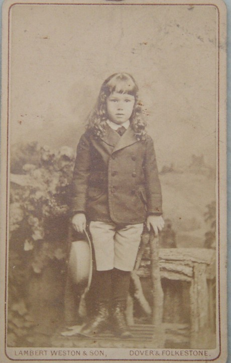 Portrait of Michael James Holland as a child photograph early 1700s of Lullings Balcombe Sussex 1870-1956