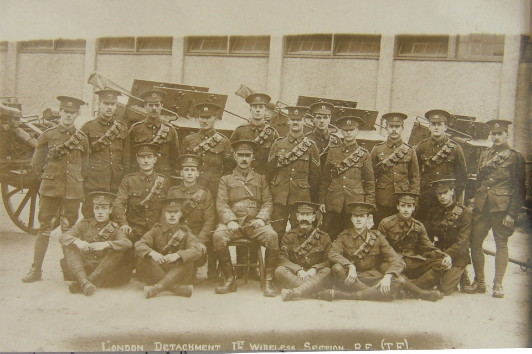 London Detachment 1st Wireless Squadron Royal Engineers Territorial Force. Click for larger image