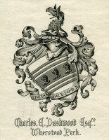 Bookplate of Charles Edmund Dashwood of Wherstead Park