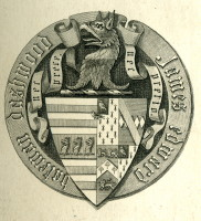 Bookplate of James Edmund Bateman Dashwood