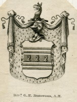 Bookplate of Rev G H Dashwood