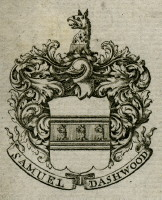 Bookplate of Samuel Dashwood